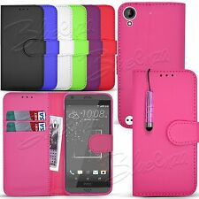 For HTC Desire Various Mobile Models - Wallet Leather Case Book Cover + Stylus