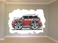 Huge Koolart Cartoon Mini Countryman Wall Sticker Poster Mural 3100