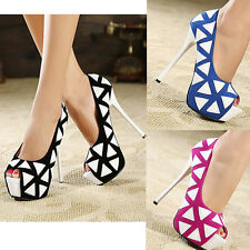 Sexy Super Party Maid Platform High Heels Peep Toes Women Shoes