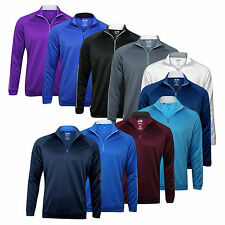 Adidas 3-Stripes Piped 1/4-Zip Outerwear - Choose Size & Color