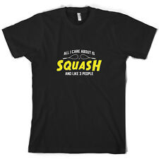 All I Care About Is Squash - Mens T-Shirt - Player - 10 Colours - FREE UK P&P