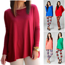 PIKO 1988 Womens Solid Knit Dolman Tunic Long Sleeves Bamboo Piko Top S M L