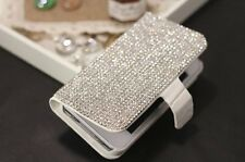 S*ACT Diamond leather wallet flip card stand skin case for Iphone 5g 5s 6 6 plus