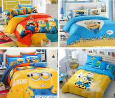 Single/Q Bed Children H Quality Quilt/Duvet Cover/Pillow Case/Sheet Set- Minions