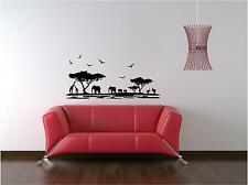 African Scene Vinyl Wall Art Sticker Decal,Bedroom Living Room Kitchen Hallway