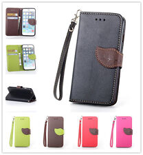 Leave Flip Leather Wallet Soft Case For Apple Samsung LG Nokia HTC Sony Motorola