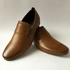 Mens New Casual Leather Smart Formal Slip On Loafer Shoes UK SIZE 6 7 8 9 10 11