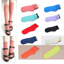 New Candy Color Fluorescent Women's Lady Natural Casual Curling Socks