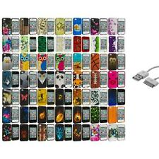 Design Hard Rubberized Color Snap-On Cover Case+Sync Cable for iPhone 4 4S 4G