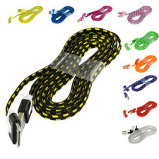 Noodle Rope Braided USB Sync Data Cable Cord 6FT for iPhone 4 4S 3GS iPod Touch