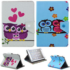 "US Stock Universal Cute Owl PU Leather Cover Case For 9.7"" 10"" 10.1"" Tablet PC"