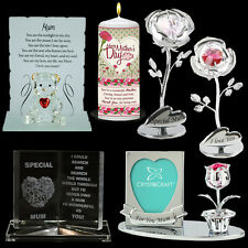 MOTHERS DAY GIFTS MUGS PHOTO FRAMES PLAQUES CANDLES SET BOX MUM PRESENTS CRYSTAL