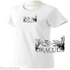 Dracula Old Legend New Blood Vampire Movie Ladies Classic Fit White T Shirt