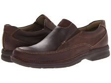 Mens Clarks Senner Lane SlipOn Shoe Brown Chocolate Nubuck 26066258