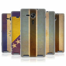 HEAD CASE VINTAGE FLAGS SET 2 SILICONE GEL CASE FOR SONY XPERIA SP C5303