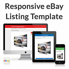 eBay Listing Template Auction HTML Professional Mobile Responsive Custom Design