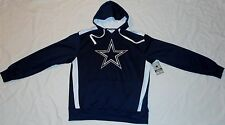DALLAS COWBOYS AUTHENIC APPAREL MEN'S HOODED SWEATSHIRT HOODIE M L XL 2X NAVY