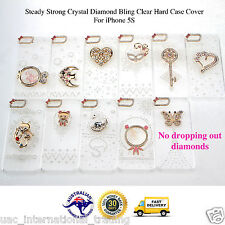 Crystal Diamond Bling Clear Hard Case Cover for iPhone 5