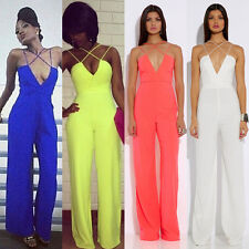 New Sexy Women Sleeveless gauze Bodycon Jumpsuit Romper Trouser Clubwear Pants