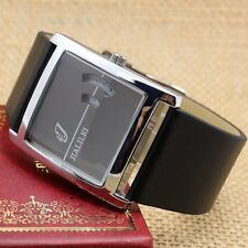 NEW Fashion Square Dial Leather Band Quartz Men Women Wrist Watch Cool Gifts