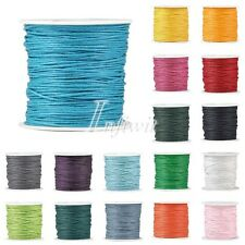 1 Roll 80m 0.5/1/1.5/2mm Waxed Cotton Macrame Cord Beading Jewelry Making String