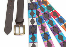 Shires Riding Argentinian Brown Leather Drover Polo Belt For Fashion Or Breeches