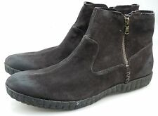 John Varvatos Star USA Kerouac Mens Espresso Brown Suede Dual Zip Boots