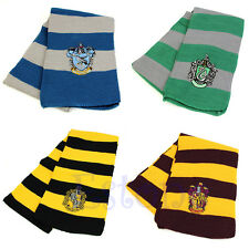 Harry Potter Slytherin/Gryffindor/Ravenclaw/Hufflepuff Scarf Costume Cosplay New