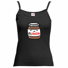 Nutella Chocolate Funny Swag Hipster PJS Tank T Shirt Woman Top
