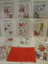 Acrylic Stamp Sheets A5 Great for Cardmaking, Scrapbooking 11 to choose from