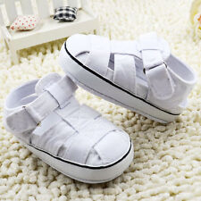 Infant Baby boy white crib shoes sandals shoes size 0-6 6-12 12-18 months