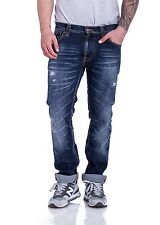 Nudie Herren Jeans Thin Finn 111527 in Shredded Fiend
