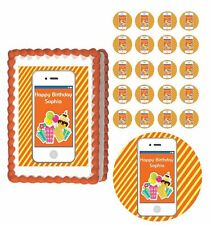 IPHONE Edible Cake Topper Cupcake Image Decoration Birthday Party