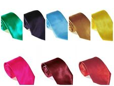 Solid Shinny Satin Ties for Men over 25 colors to choose from by berlioni italy