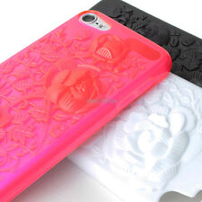 For iPod Touch 5 5G Colorful 3D Flowers Hard Gel TPU Skin Case Cover Accessory