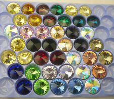 18mm satellite shape Glass Color Faceted Glass Round Jewels silver bottom 30pcs
