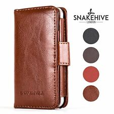 Snakehive® Apple iPhone 4/4S Premium Leather Folio Wallet Flip Case w/Card Slots
