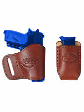 NEW Barsony Burgundy Leather Yaqui + Mag Pouch Holster Walther Sig MiniPocket 22
