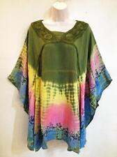 RETRO Hippie Bohemian Gypsy Festival Tie Dye Circle Caftan Top Many Colors