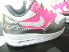 TODDLER INFANT GIRLS NIKE AIR MAX 1 TRAINERS UK SIZE 4.5 - 9.5 WHITE / PINK