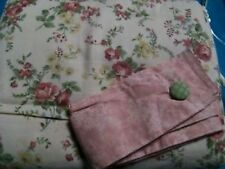 JCP Cotton ALLISON ROSE LINED DRAPERY PAIR Rod Pocket Curtains with Tiebacks