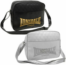 Lonsdale Shoulder Bag Satchel Bag black white Messenger Bag new