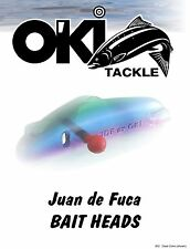 O'Ki JDF INVENTORY of Bait Head Rolling Teasers Salmon Fishing Lures  3 per pack