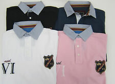 MENS HOWICK RUGBY POLO SHIRT MIDNIGHT,BLUE,WHITE,PINK S-M-L-XL-XXL BNWOT