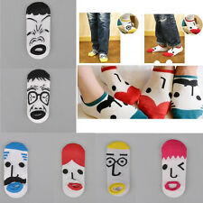 A Fashion four seasons Cartoon creative expression face cotton girls dress socks