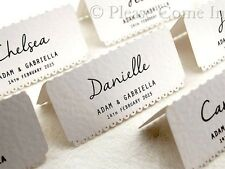 Personalized White Vintage Lace Wedding Place Cards/Escort Cards