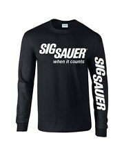 Sig Sauer T-Shirt Pro Gun Graphics Tee  2nd amendment T-Shirt Long Sleeve 2