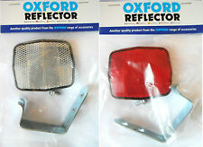 Oxford Products Front or Rear Bike Reflector With Metal Bracket BS6102/2