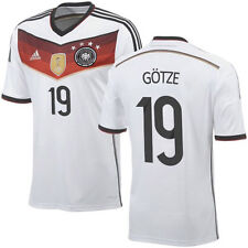 ADIDAS MARIO GOTZE GERMANY 4 STAR HOME JERSEY FIFA WORLD CUP 2014 CHAMPIONS.
