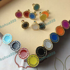 New Classic Marc by M Jacobs 13 colors Letters Disc Stud Earrings
